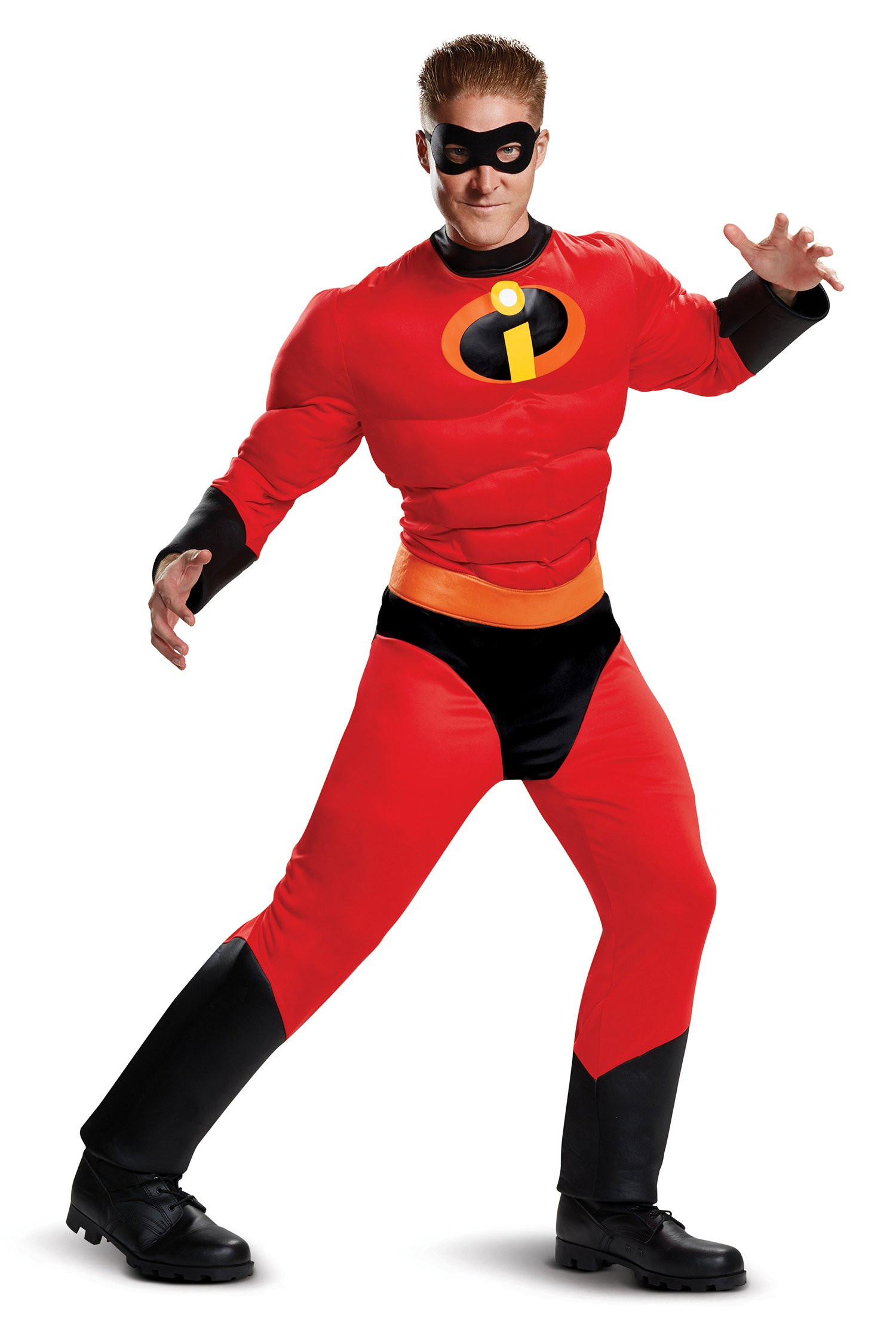Disguise Men's Mr. Incredible Classic Muscle Adult Costume, Red, L/XL (42-46)