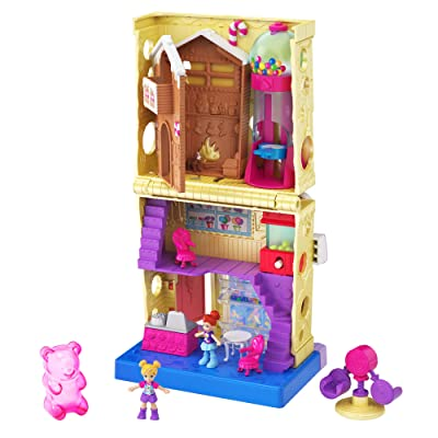 Pollyville Candy Store with 4 Floors, 2 Dolls and 5 Accessories: Toys & Games