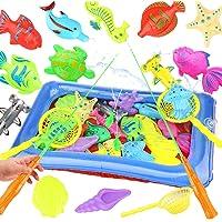 Kapmore 18PCS Fish Game Toy Set Bath Toy Waterproof Floating Fishing Play Toy