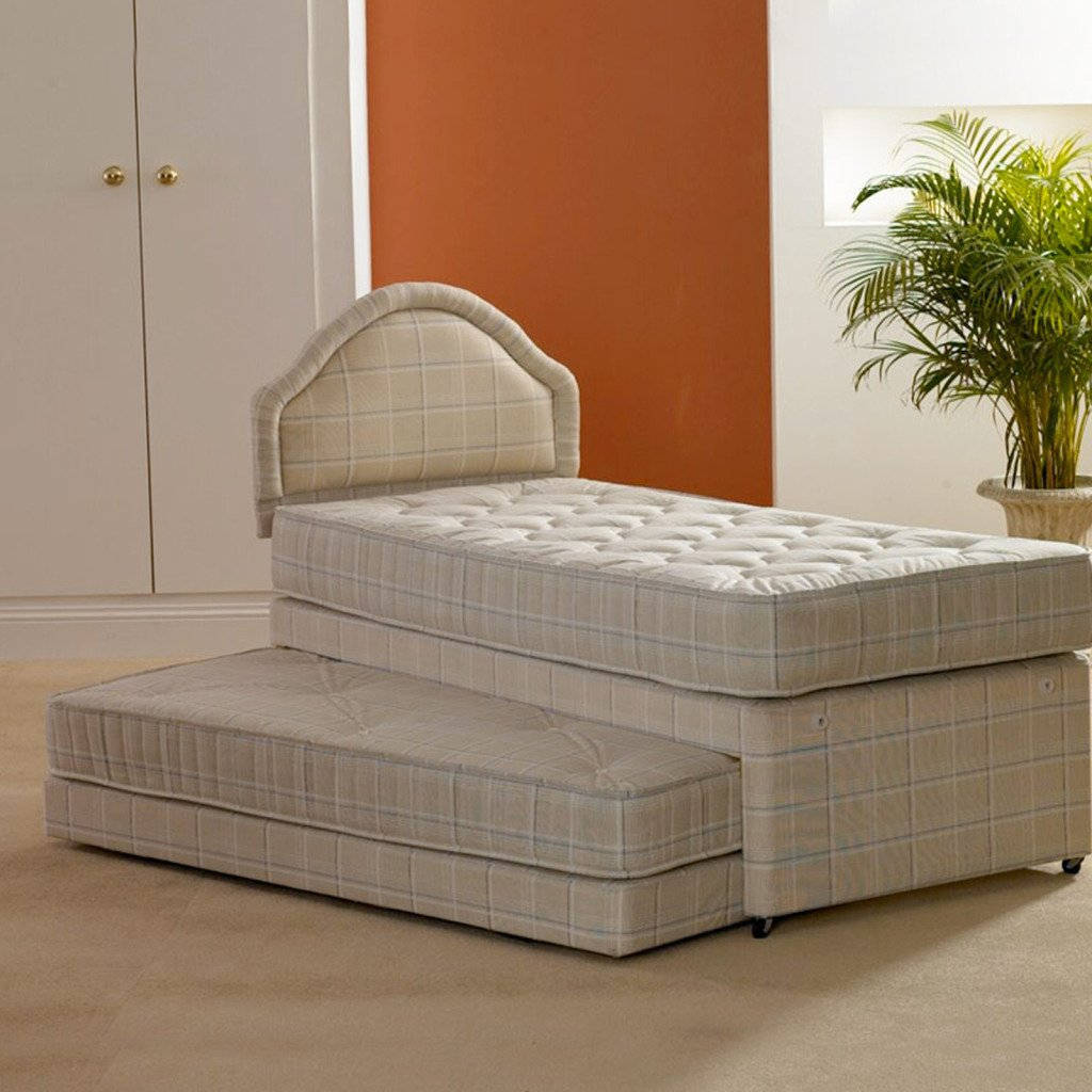 Deluxe Beds Ltd Single 3 In 1 Guest Bed With Deep Quilted Mattresses - Bed With No Headboard