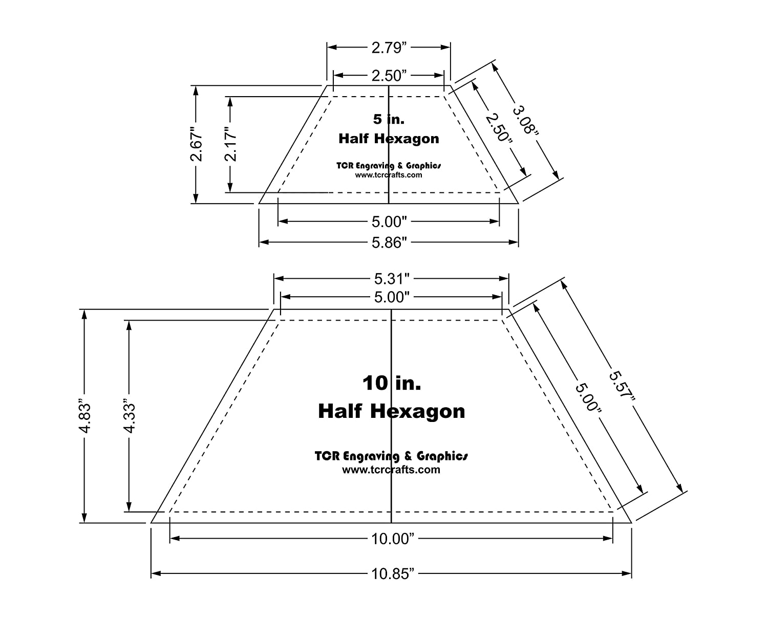 image about Hexagon Printable named 50 percent Hexagon Quilt Templates 5 and 10 Inches Apparent with Heart Manual 1/8 Inch Thick