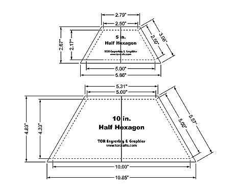 amazon com half hexagon quilt templates 5 10 clear w center