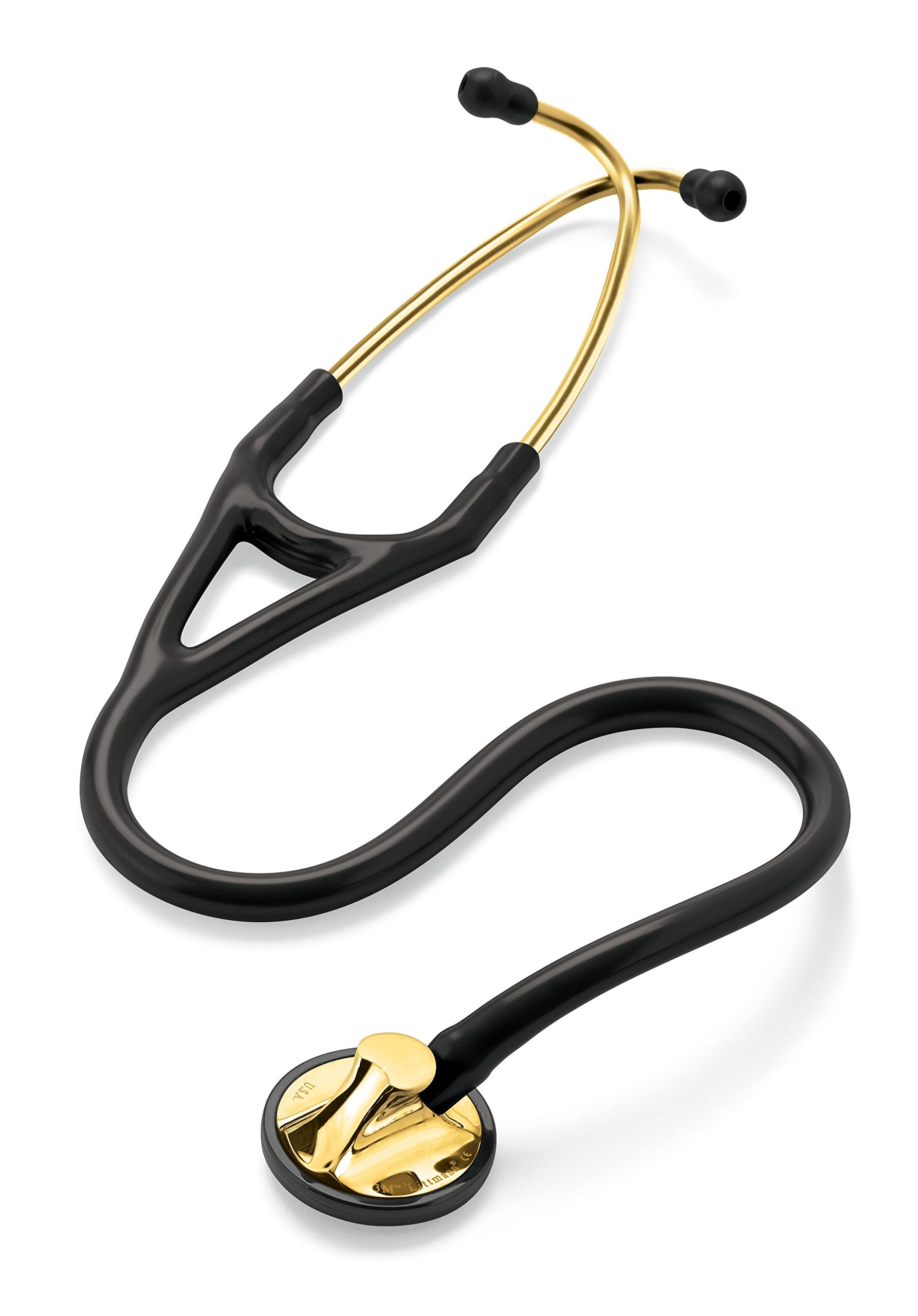 3M Littmann Master Cardiology Stethoscope, Brass-Finish Chestpiece, Black Tube, 27 inch, 2175 by 3M Littmann (Image #4)
