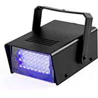 ENUOLI Mini LED Strobe Light Blue Color with 24 Super Bright LEDs Variable Speed Control for Christmas Clubs Stage Light…