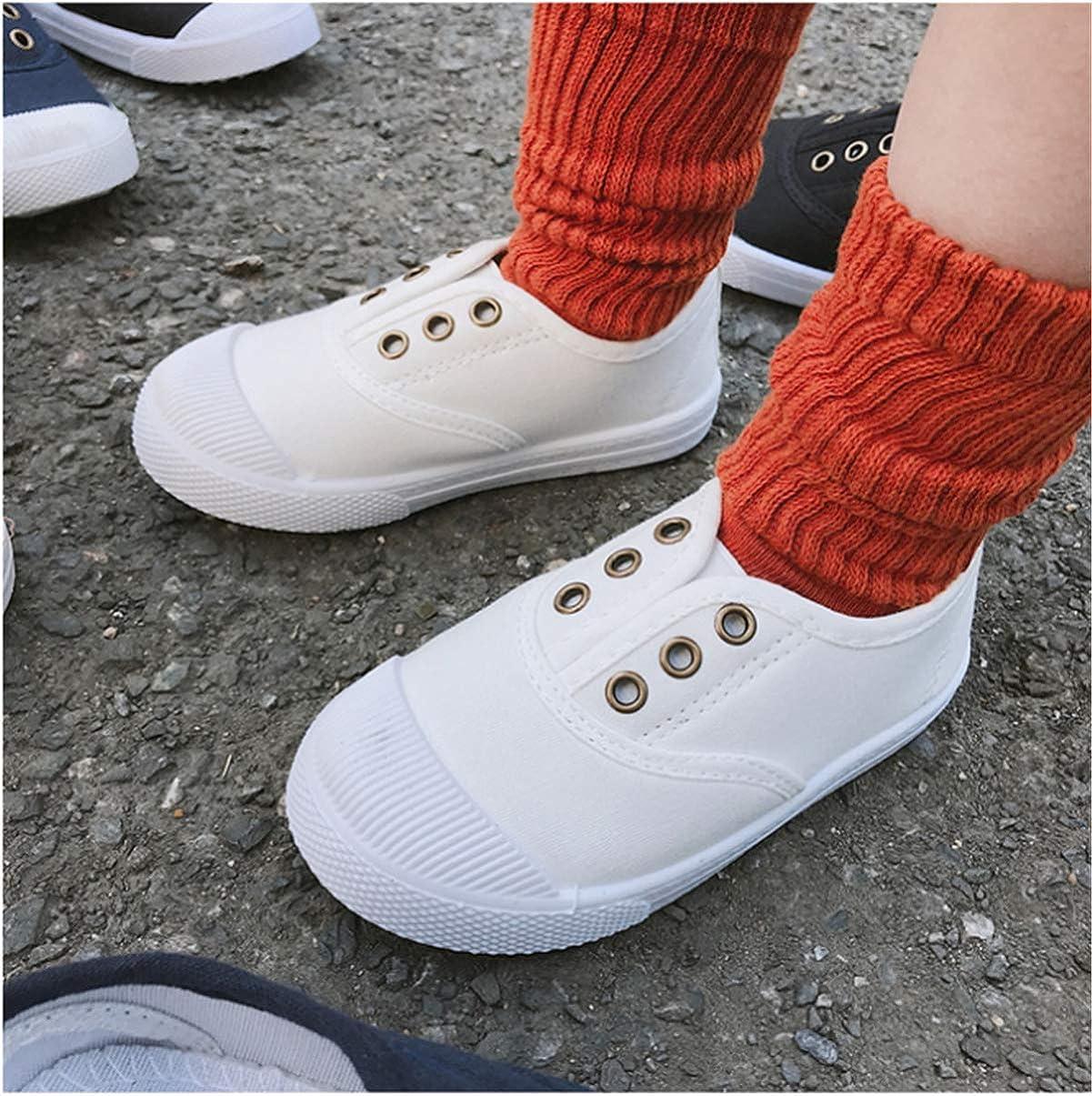 E-FAK Kids Canvas Sneaker Toddler Boys Girls Slip On Tennis Shoes Lightweight Fashion Casual Running Shoe