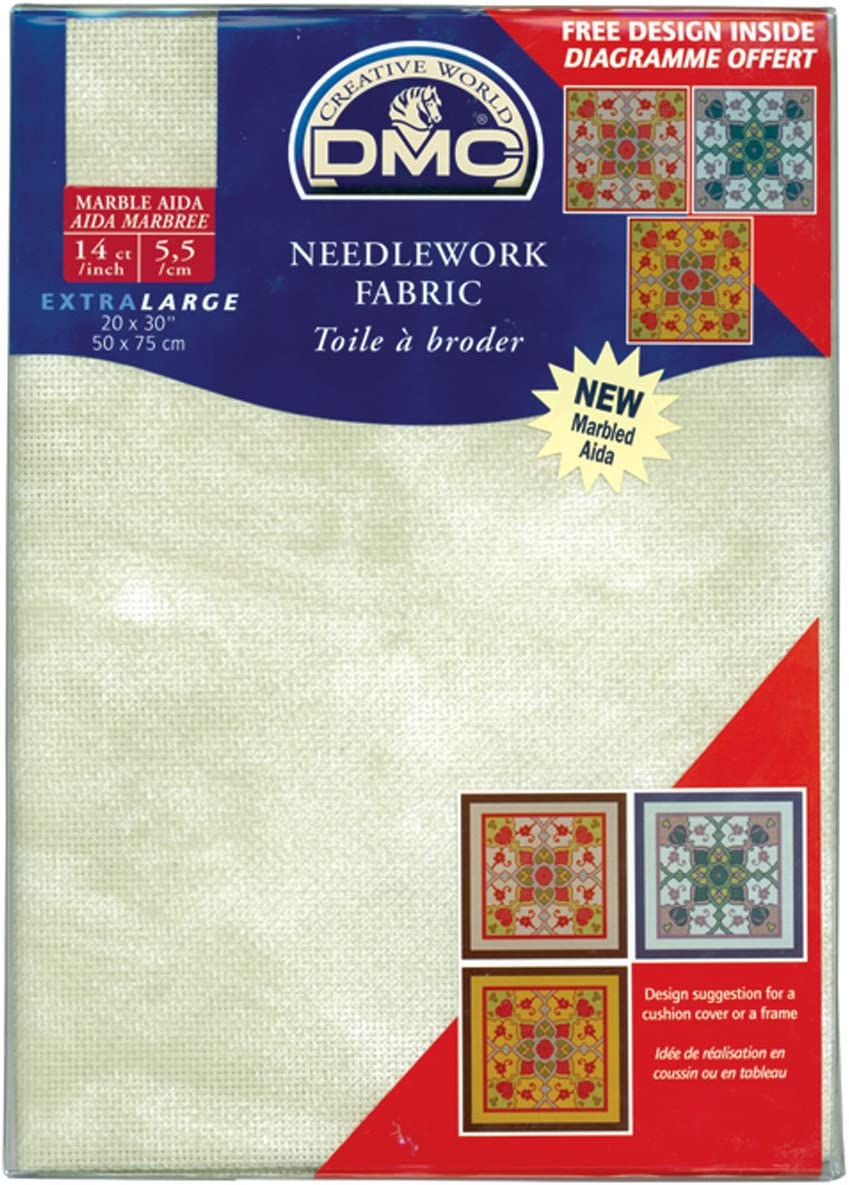 DMC DC28M-3024 Marble Aida Needlework Fabric 14 Count Mountain Sage 20 by 30-Inch