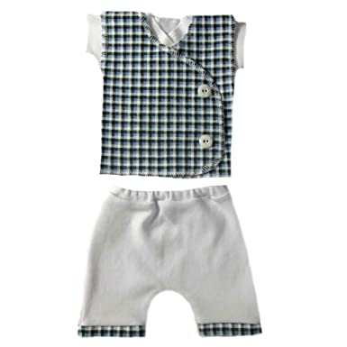 bf3893fe5d8d Amazon.com  Jacqui s Baby Boys  Blue Checkered Vest Shorts Clothing ...