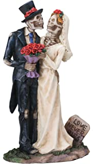 Amazoncom Spooky Skeleton Bride and Groom Wedding Couple Statue