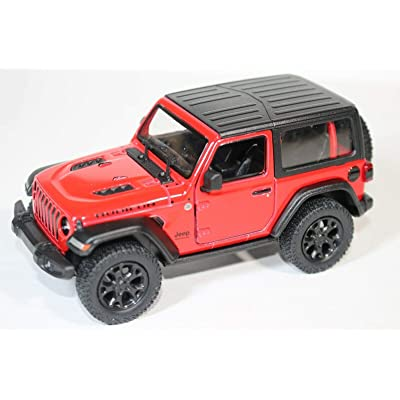 2020 Jeep Wrangler Rubicon Hard Top Red - Kinsmart P/B: Toys & Games