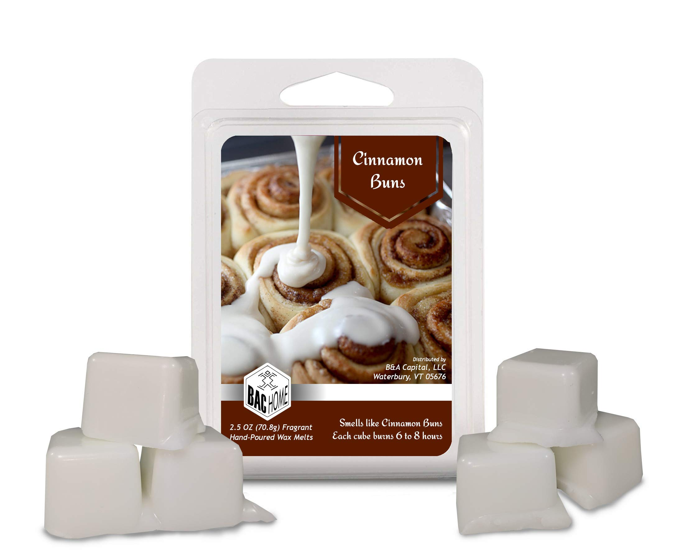 BAC Home 4 Pack - Grandma's Kitchen Collection Soy Blend Scented Wax Melts Wax Cubes, 10.0 oz, [24 Cubes] with Spice Cake, Maple Syrup, Cinnamon Buns and Mulberry Jam by BAC Home (Image #2)