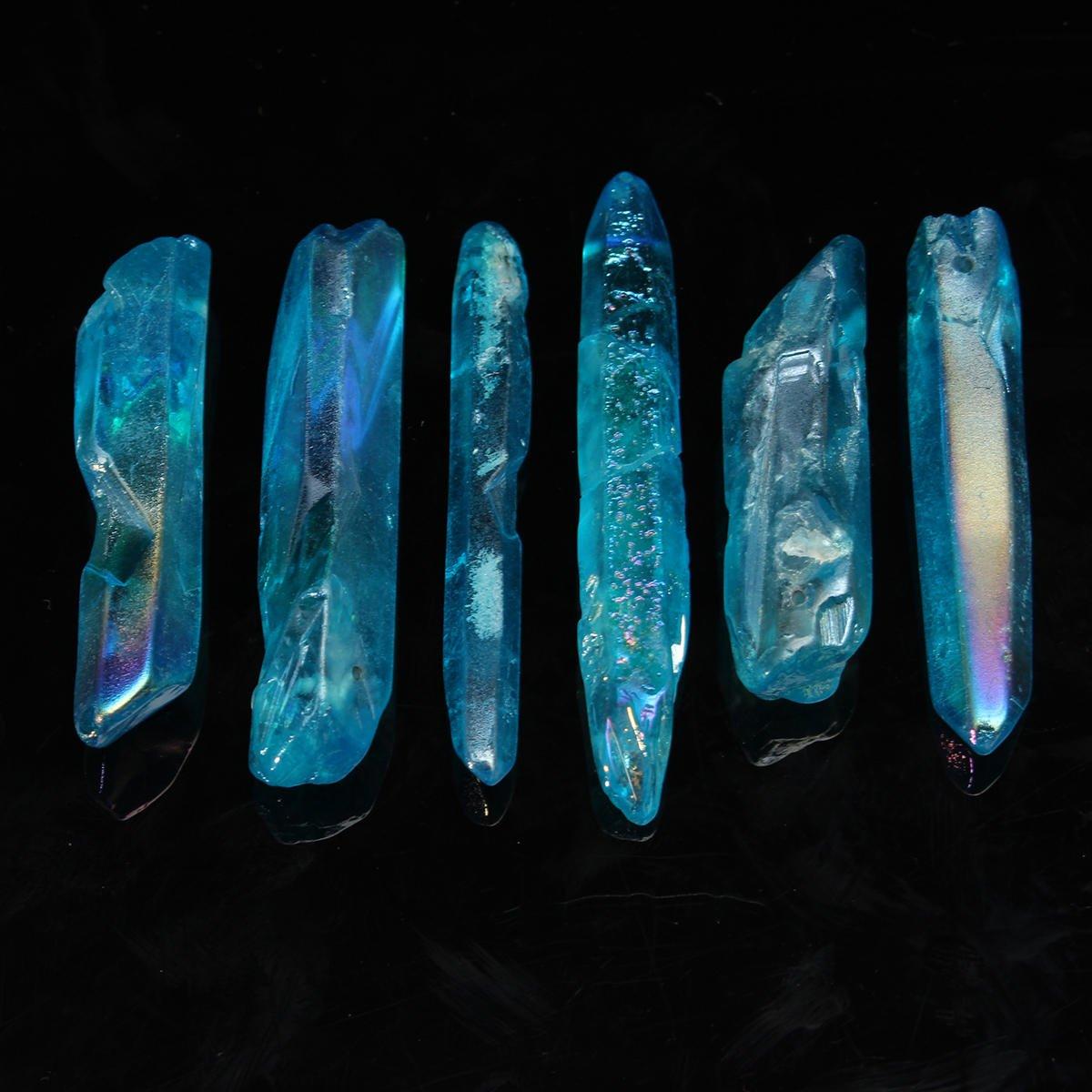 Clear Quartz Crystal - Aura Quartz Crystal - 50G VERY POWERFUL & RARE BLUE LEMURIAN SEED QUARTZ CRYSTAL HEALING POINT ( Blue Quartz Crystal )