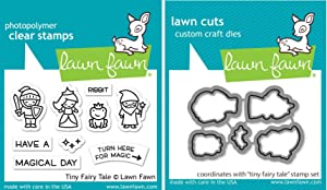 Lawn Fawn - Tiny Fairy Tale - Stamp and Die - 2 Item Bundle