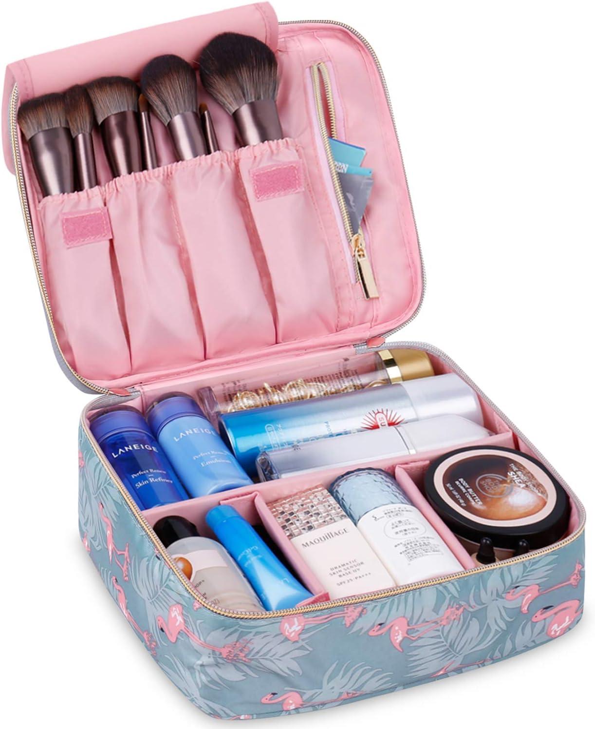Neceser de viaje para maquillaje, organizador grande para mujeres y niñas