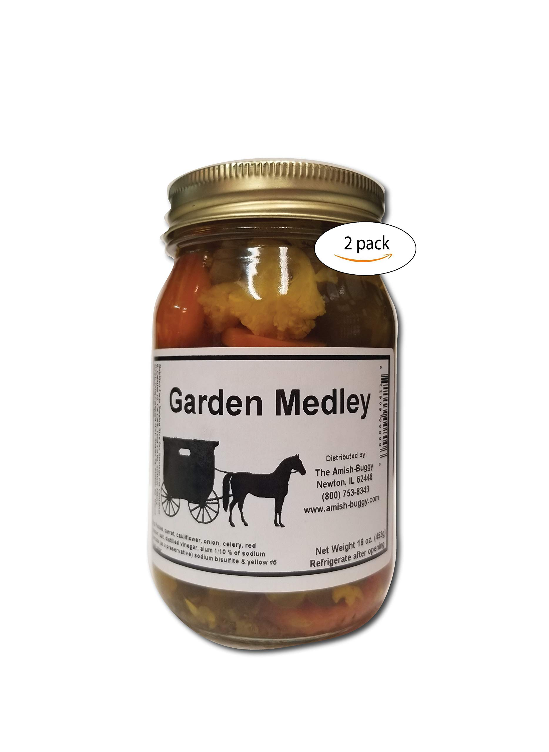 Pickled Vegetables - Two jars (Garden Medley) by The Amish-Buggy