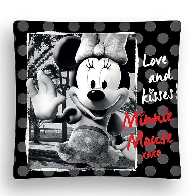 Minnie mouse blanco y negro decorativo funda para cojín ...