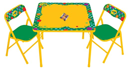 Amazon.com: Kids Only Crayola Erasable Activity Table Set: Toys & Games