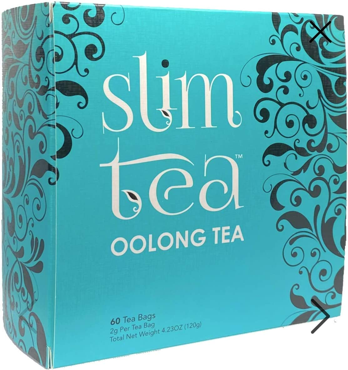 SlimTea Kenyan Oolong Tea – Highly Concentrated Slimming Tea to Burn Calories – All Natural Weight Loss, Detox, Diet Tea, Anti-Acne – Special Proprietary Blend with High EGCG – 1 month supply 96g