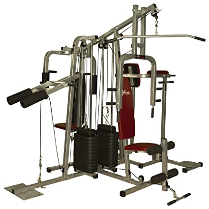 Lifeline 6 station home gym 2 weight lines: amazon.in: sports