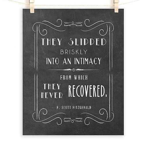 F. Scott Fitzgerald Quote Print, Great Gatsby Wall Art, Sizes 5x7-13x19  **Unframed**