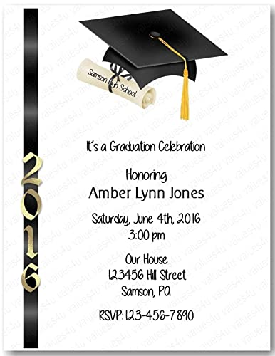 Amazon Com Personalized Graduation Party Invitation Graduation