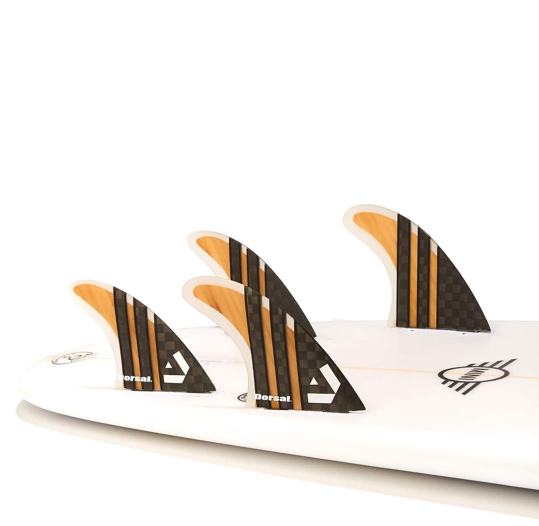 Dorsal Carbon Bamboo Honeycomb QUAD Set Surfboard Fins Medium