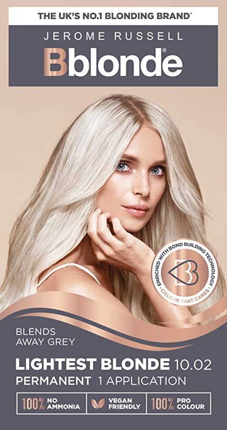 Jerome Russell Bblonde - Tinte permanente para cabello, 10.02, rubio más claro