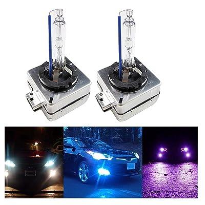 Xotic Tech D1S D1R D1C 10000K Deep Blue OEM HID Headlight Replacement Light Bulb: Automotive