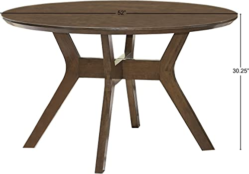 Homelegance Edam 52 Round Dining Table, Oak