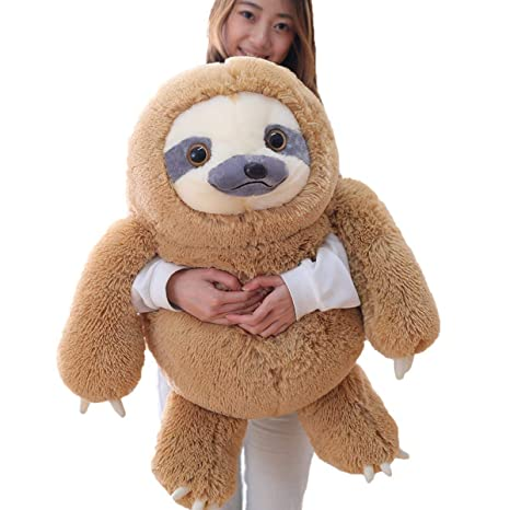Amazon Com Winsterch Giant Sloth Stuffed Animal Toy Plush Sloth