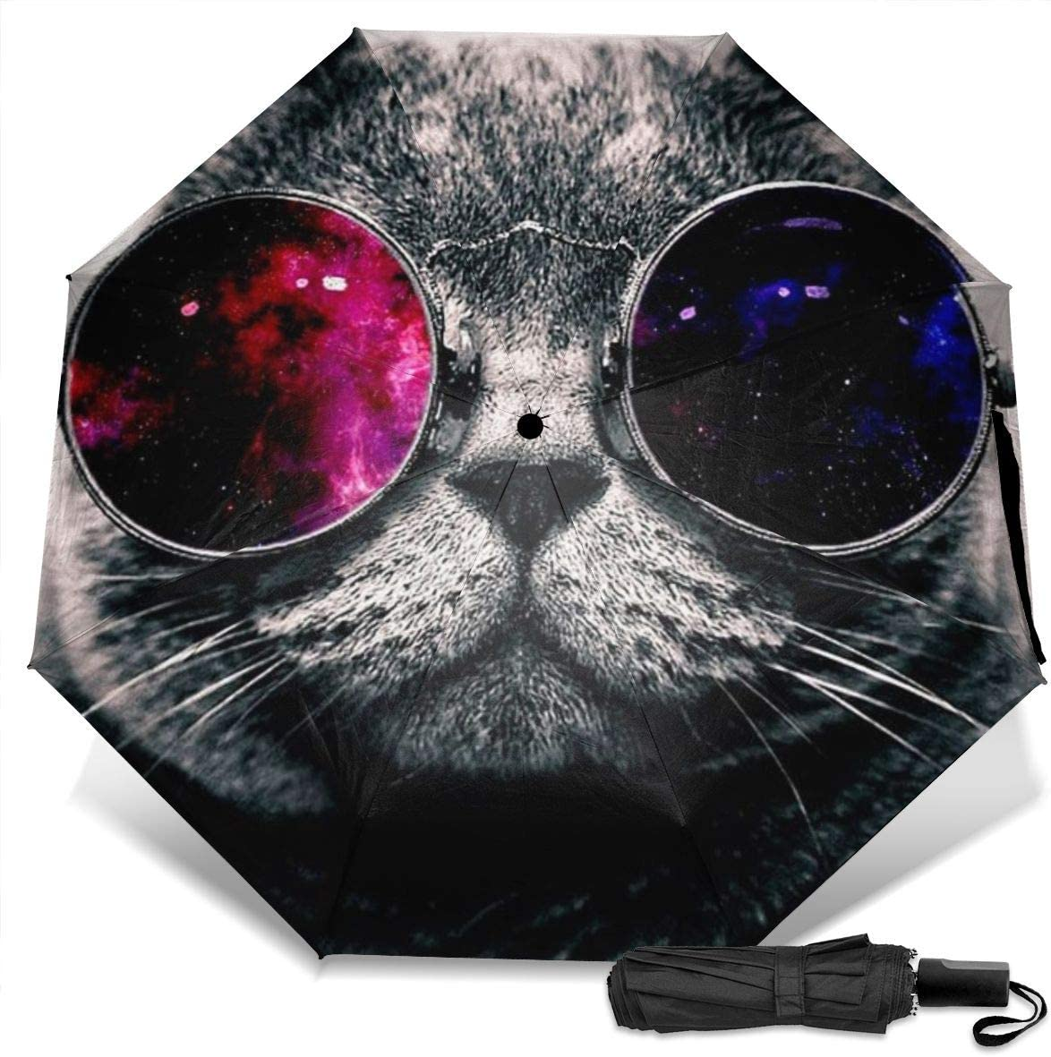 Cat Wear Sunglasses MMLCGG Lightweight Portable Sun/&Rain Travel Umbrella
