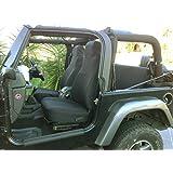 GEARFLAG Neoprene Seat Cover Custom fits Wrangler TJ 2003-06 Full Set (Front + Rear Set) (Black fs)