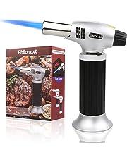 Philonext cocina soplete antorcha encendedor, cocina recargable antorcha butano culinario con cerradura de seguridad y