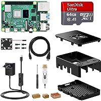 NinkBox Raspberry Pi 4 Modelo B, Tarjeta Micro SD de 4GB RAM+64GB, Versión Actualizada de Raspberry pi 3b+, con Micro HDMI, Fuente de Alimentación 5V/3A con Interruptor, Ventilador, Micro HDMI