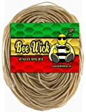50ft of 100% Organic Hemp Wick, waxed by hand in the USA with pharmaceutical grade beeswax (1.0mm)