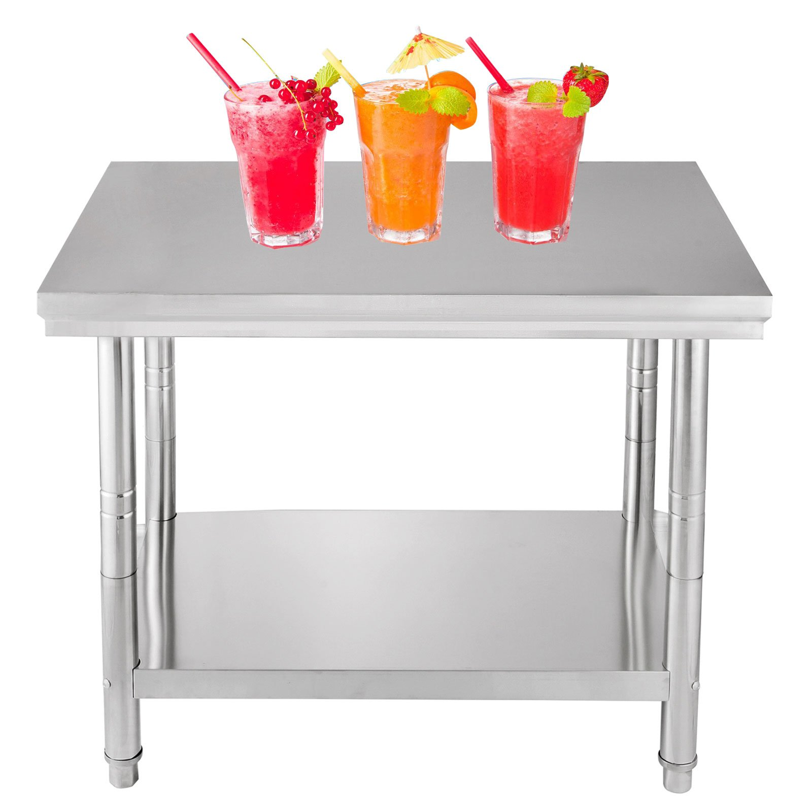OrangeA 30-Inch X 24-Inch NSF Stainless Steel Work Table Prep Work Table for Commercial Kitchen Restaurant (30x24x32 inch)