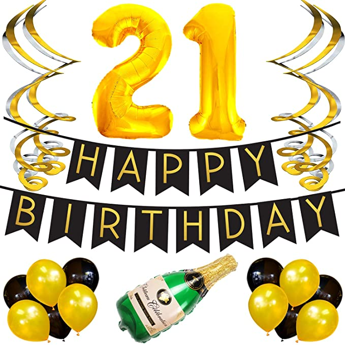 Paquete de Fiesta Celebración del 21 Cumpleaños - Surtido de ...