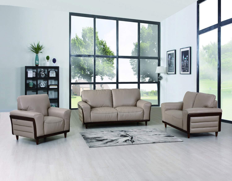 Amazon com blackjack furniture 756 beige montgomery top grain italian leather sofa loveseat and chair living room set 87 kitchen dining