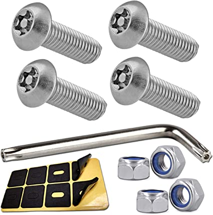 FRONT REAR BMW SECURITY Anti Theft License Plate Screws Stainless bolts S Chrome