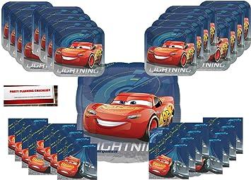 Amazon.com: Cars 3 Fiesta de cumpleaños suministros Bundle ...
