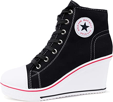 High Heel Wedge Sneakers For Women