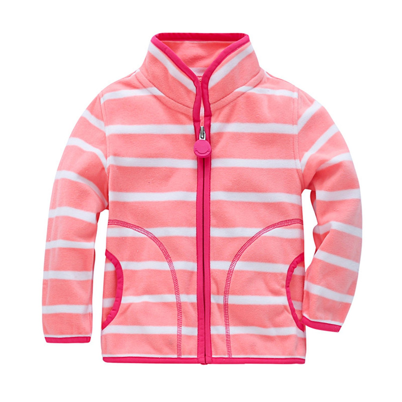 Beautymade Girls Boys Fleece Jacket 2-7 Years Children Outerwear Coats Baby Sport Suit Kids Hoodies Jacket As Shown 5