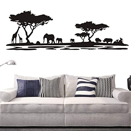 Amazon Com Safari Africa Forest Animal Wall Decal Removable Vinyl