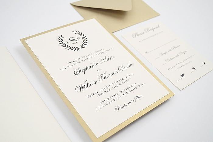 Amazon laurel wreath wedding invitation sample kit handmade laurel wreath wedding invitation sample kit stopboris Choice Image