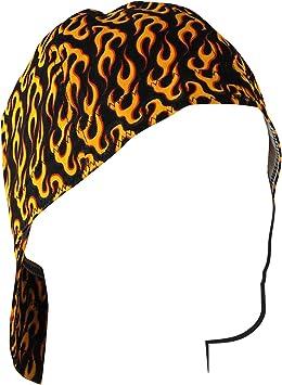 Black//Orange, 7.5 Zanheadgear CPW460L Welder Cap with Flames Design