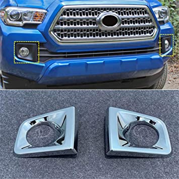 N300 Car Front Fog Lights Frame Cover Trim ABS Chrome 2PCS YUZHONGTIAN 2016-2019 for Toyota Tacoma