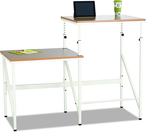 Safco Products Sit/Stand Bi-Level Desk