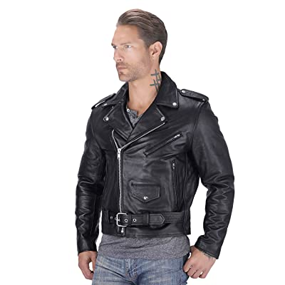 Nomad USA Motorcycle Leather jacket for Men at Men's Clothing store