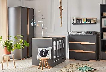 Babyzimmer Kinderzimmer Komplett Spring Set A Grau Schrank