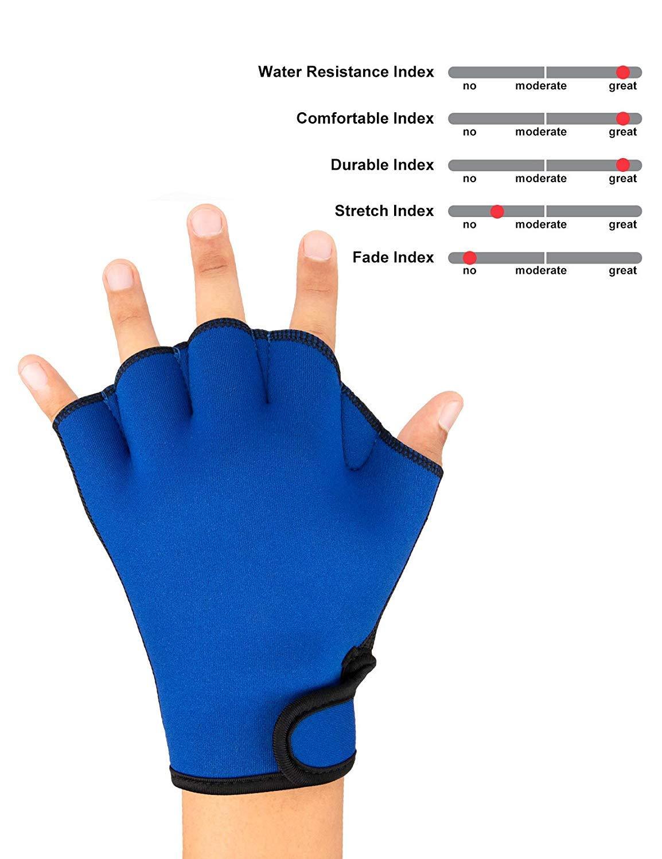 ZSZBACE Schwimmen Handschuhe Wasserdicht Flossen Hand Paddles Ausbildung Fingerless Webbed Flippers Paddle