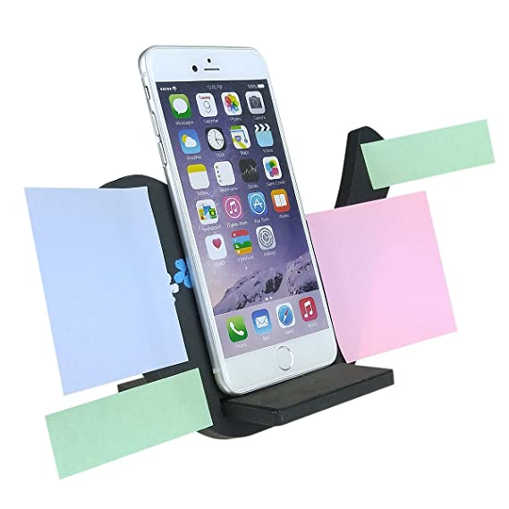 all in one bird silhouette business card holder stand desk sticky board - Cell Phone Business Card Holder